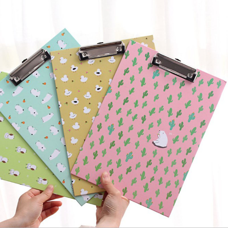 [해외]1pcs 귀여운 사랑스러운 카와이 A4 종이 선인장 오리 올빼미 곰 클립 보드 쓰기 드로잉 보드 패드 고정 된 학교 사무 용품/1pcs Cute Lovely Kawaii A4 Paper Cactus Duck Owl bear clipboard writing dra