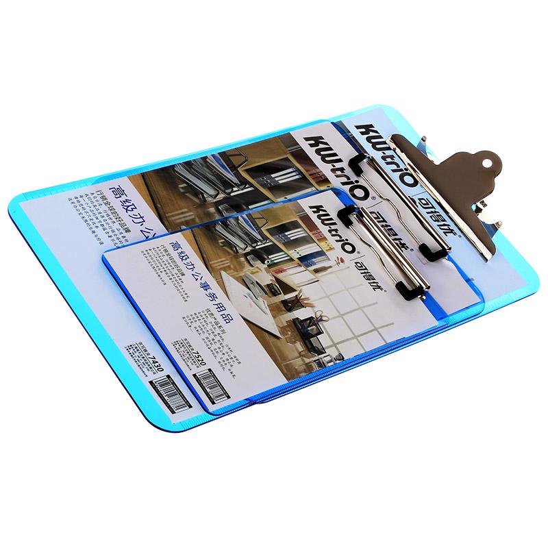 [해외]투명 A4 / A5 크기 플라스틱 클립 보드 파일 폴더 고정 보드 하드 보드 쓰기 판 클립 보고서 사무용품/Transparent A4/A5 Size Plastic Clipboard File Folder Stationary Board Hard Board Writi