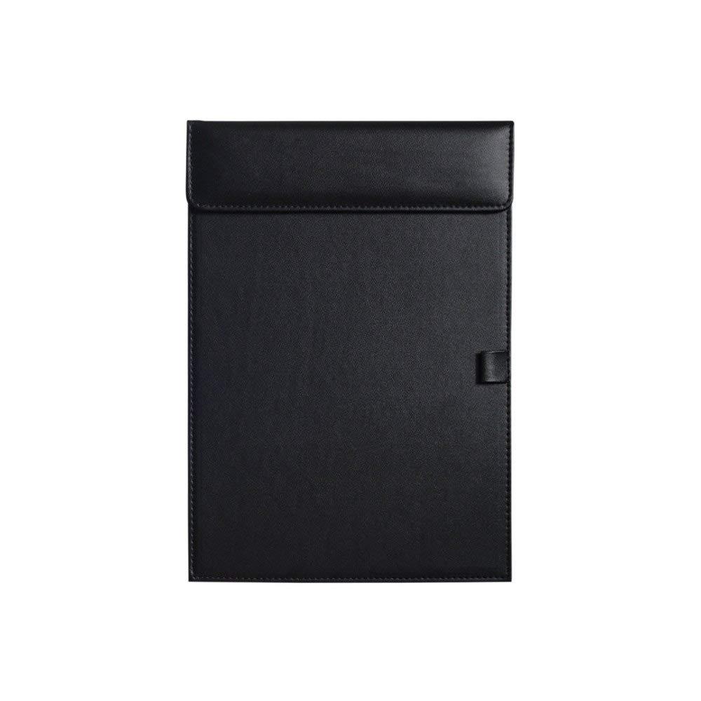 [해외]비즈니스 레터 크기 가죽 클립 보드 사무실 호텔 쓰기 패드 (검정)/Business Letter Size Leather clipboard Office Hotel Writing Pad (Black)
